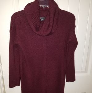 LULUS gorgeous wine colored cowl neck sweater